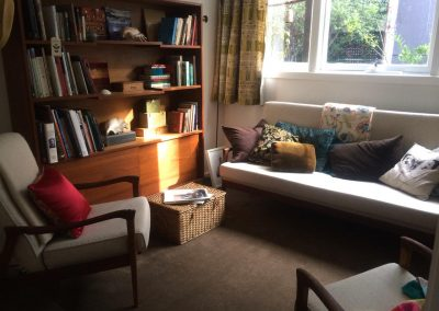 AFTERglory days returned and library/sitting room is cosy and vintage